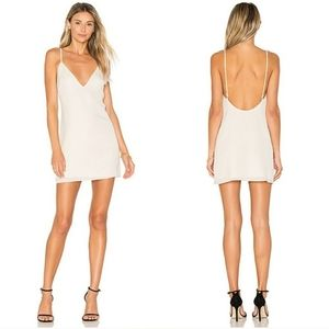 Lovers+Friends Ivory Slip Dress Deep Neckine XS